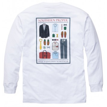 What A Gentleman Would Wear - White- Long Sleeve